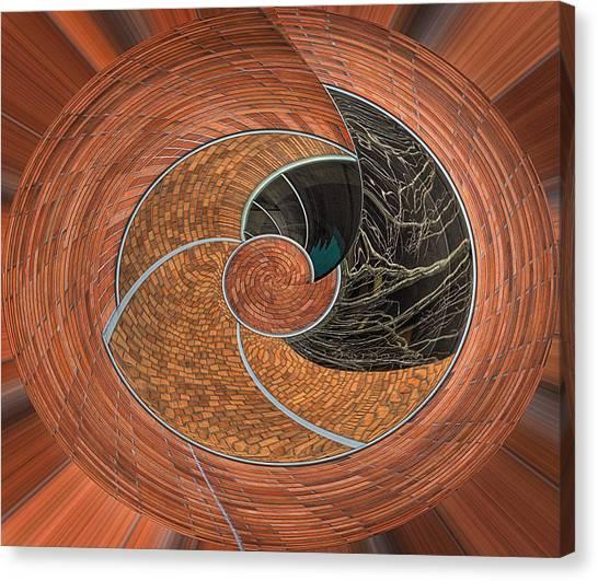 Creative Manipulation Canvas Print - Circular Koin by Jean Noren