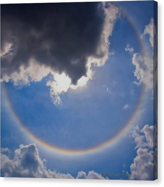 Circular Rainbow - Square Cropped Canvas Print