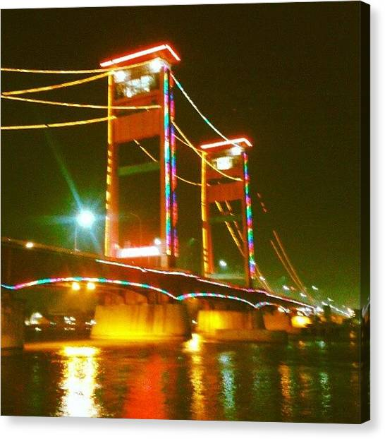 Liquor Canvas Print - Ciri Khas Palembang - Jembatan Ampera by Gin Zhao Yun