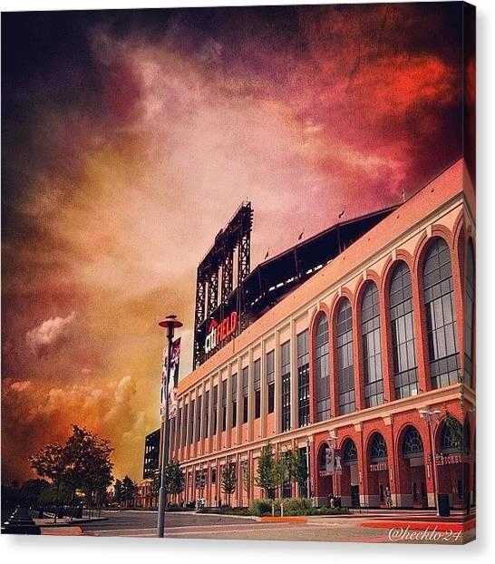Stadiums Canvas Print - Citi Heaven  #queens #mets #sky by Hector Lopez ✨