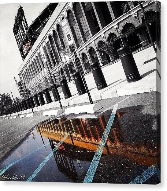 Stadiums Canvas Print - Citi Puddle  #reflections #stadium #bw by Hector Lopez ✨