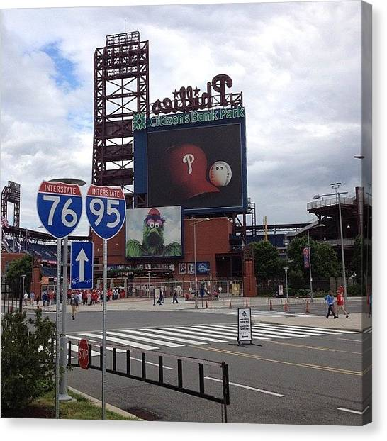 Philadelphia Canvas Print - #citizenbankpark #phillies #philly by Tom Gari Gallery-Three-Photography