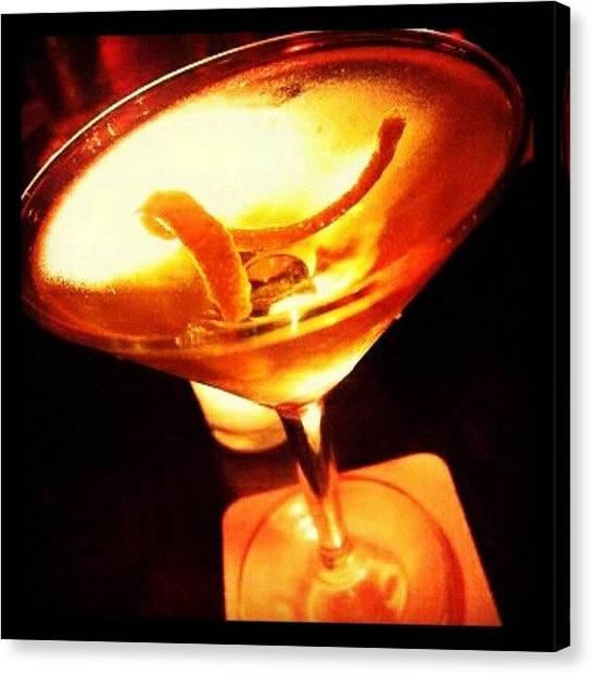 Vodka Canvas Print - Citrus Twist. #vodka #cocktail by Mary Carter