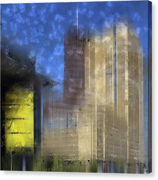 Contour Canvas Print - City-art Berlin Potsdamer Platz I by Melanie Viola