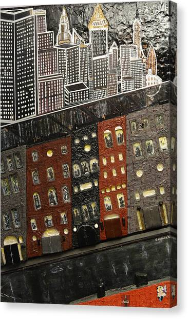 City Block After The Rain Canvas Print