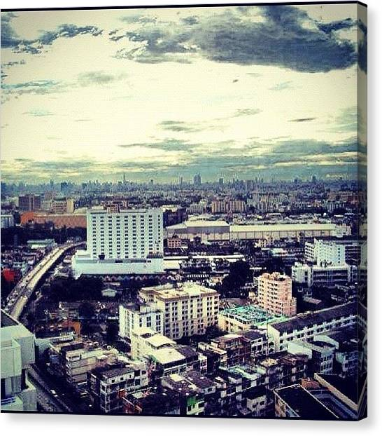 Jungles Canvas Print - #city #busy #town #mess #sky #skyporn by Mindy Vichaidit