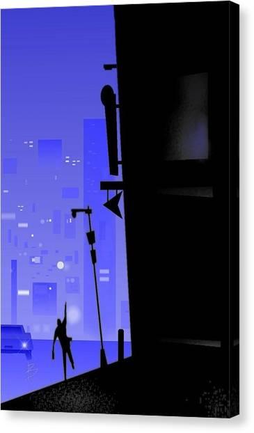 'city Corner' Canvas Print by Bryan  Rhoads