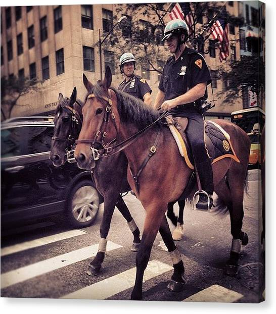 Law Enforcement Canvas Print - City Duty by U p t o w n S u e