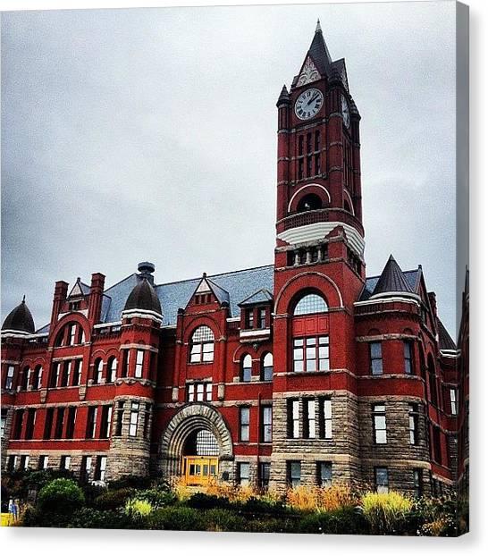 Victorian Canvas Print - City Hall. #porttownsend #pnw #wa by Kathy H