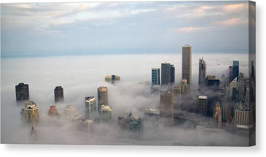City In The Clouds Canvas Print