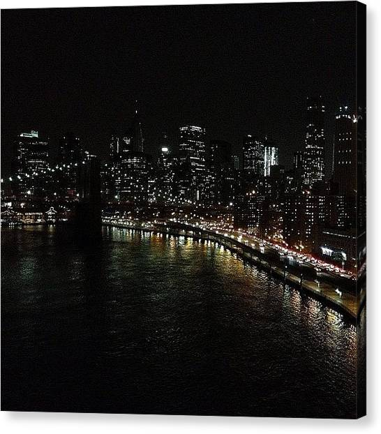 Light Canvas Print - City Lights - New York by Joel Lopez