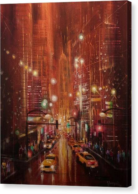 City Lights 2 Canvas Print by Tom Shropshire