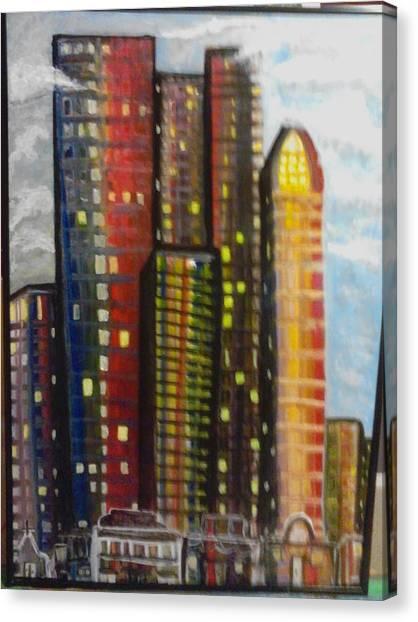 City Lights Canvas Print by Connie Carleton