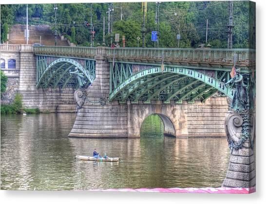 City Of Bridges Canvas Print by Barry R Jones Jr