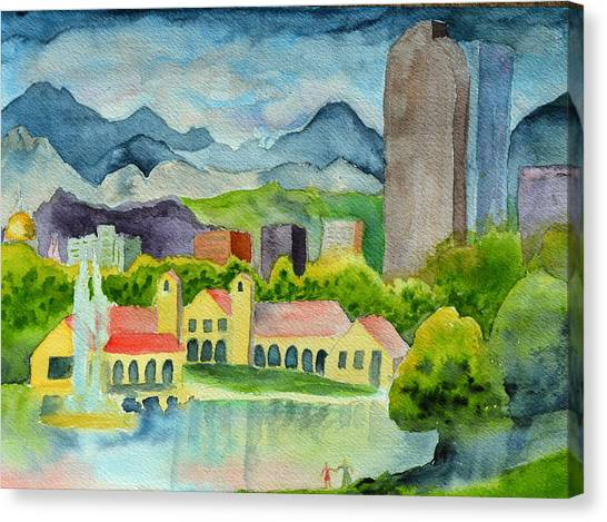 City Park Wonderland Summer Canvas Print