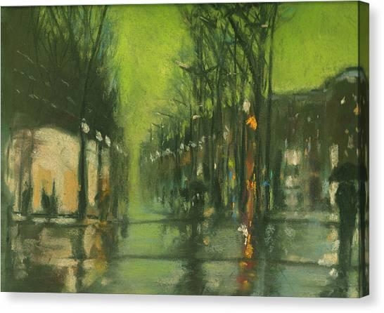 City Rain 6 Canvas Print by Paul Mitchell