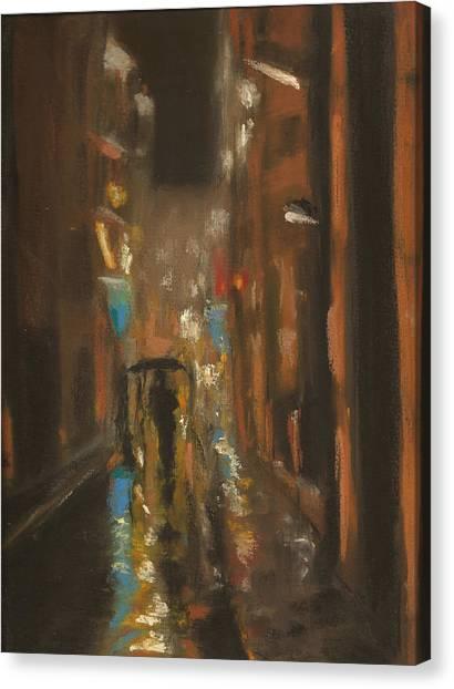 City Rain 7 Canvas Print by Paul Mitchell