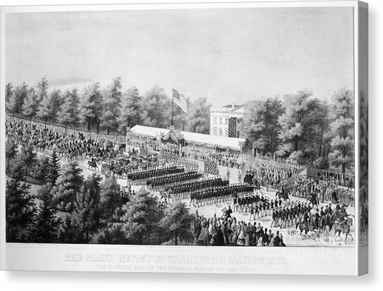 Army Of The Potomac Canvas Print - Civil War: Soldiers, 1865 by Granger