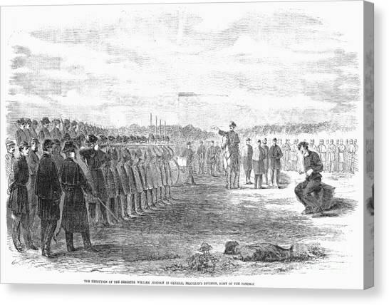 Army Of The Potomac Canvas Print - Civil War: Union Deserter by Granger