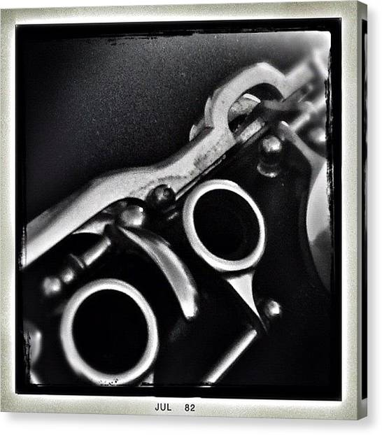 Wind Instruments Canvas Print - #clarinet #instruments #instaday by Rafael Kinzig
