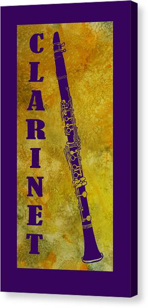 Clarinets Canvas Print - Clarinet by Jenny Armitage