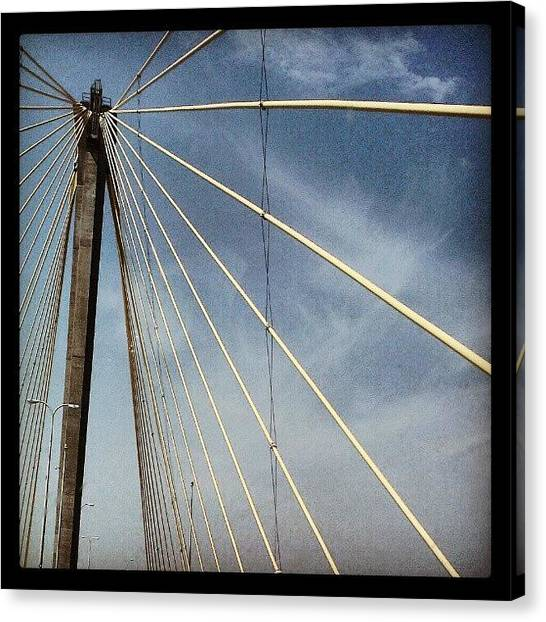 University Of Illinois Canvas Print - Clark Bridge by Shawn Jones
