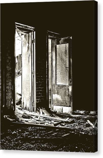 Abandoned School Canvas Print - Clark School 32 by Scott Hovind