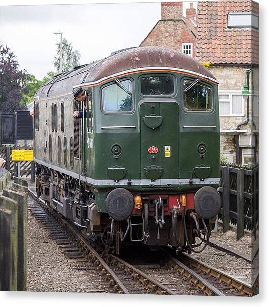 Locomotive Canvas Print - Class 24 No D5061 At Pickering #uk by Dave Lee