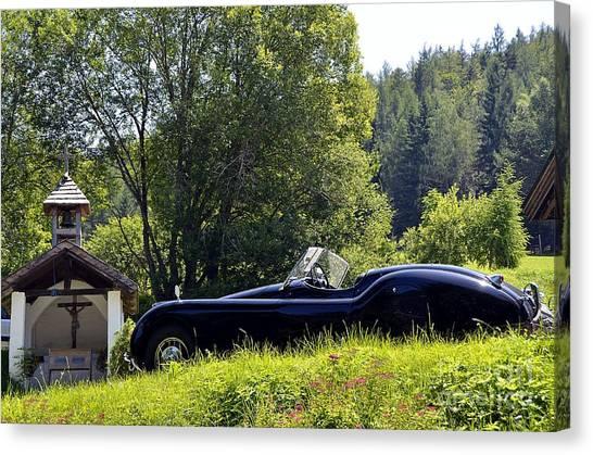 Classic Car Jaguar Xk120 Canvas Print
