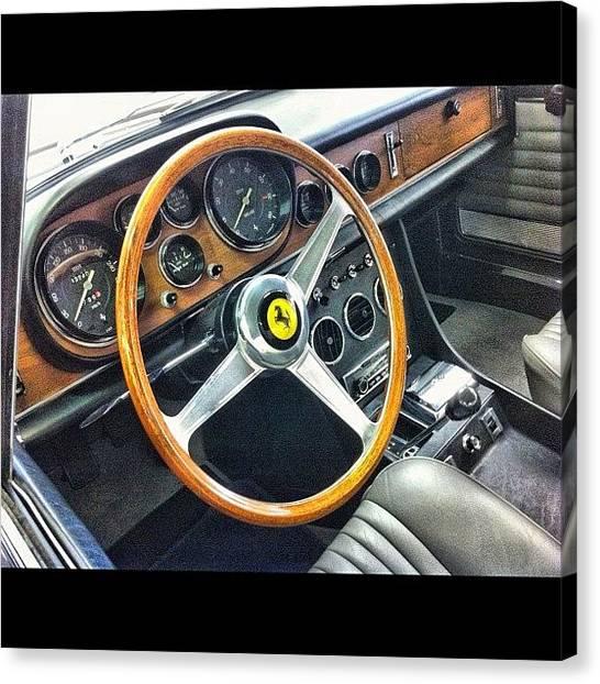 Ferrari Canvas Print - #classic #ferrari #italian #sportscar by Tara Brown