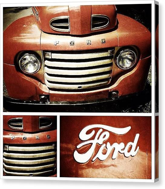 Ford Canvas Print - Classic Ford Truck by Natasha Marco