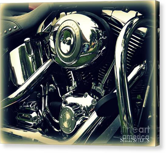 Classic Harley Canvas Print by Emily Kelley