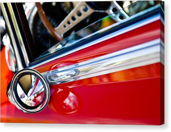 Classic Red Car Artwork Canvas Print