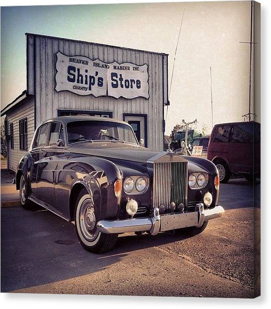 Marinas Canvas Print - Classic Rolls Royce by David Bos