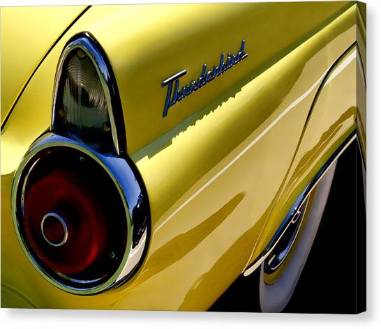 Automobiles Canvas Print - Classic T-bird Tailfin by Douglas Pittman