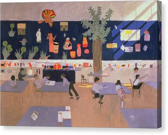 Elementary School Canvas Print - Classroom by Andrew Macara