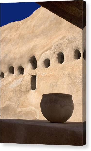 Clay Canvas Print - Clay Pot by Carol Leigh