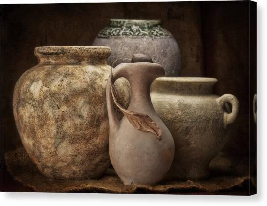 Clay Canvas Print - Clay Pottery I by Tom Mc Nemar