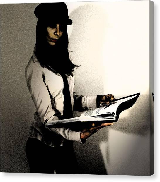 Books Canvas Print - Clea by Naxart Studio