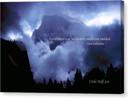 Clearing Storm Half Dome Canvas Print