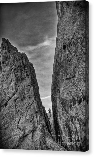 Cleft Of The Rock II Canvas Print by David Waldrop