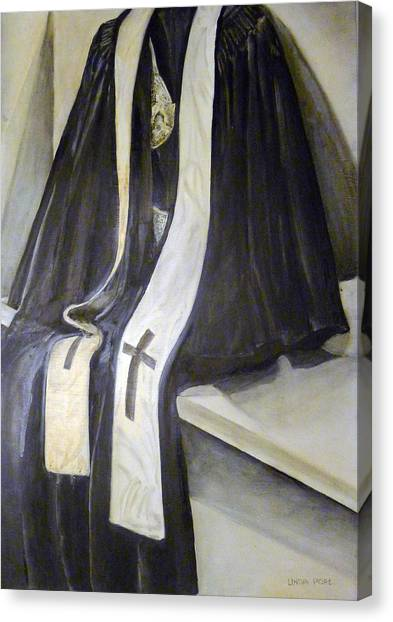 Clergy Attire Canvas Print by Linda Pope