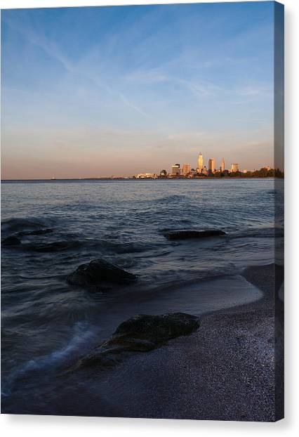 Cleveland From The Shadows Canvas Print