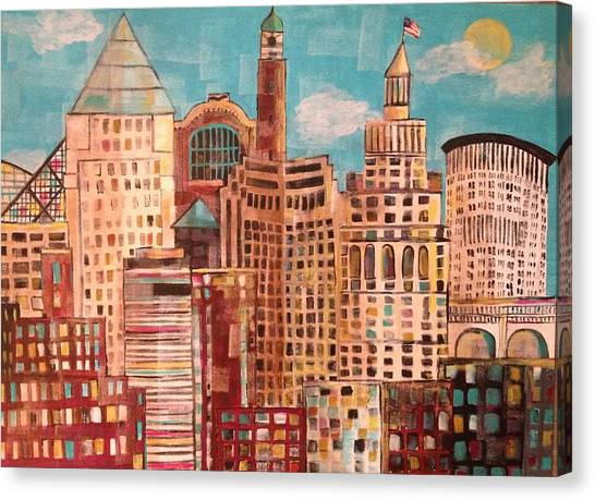 Cleveland Canvas Print by Kelli Perk