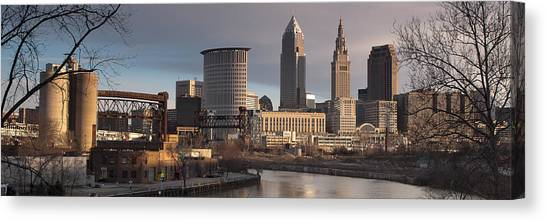 Cleveland Skyline From The Industrial Valley Canvas Print by At Lands End Photography