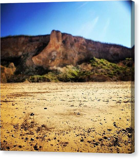 Beach Cliffs Canvas Print - Cliff by Nathan Clarke