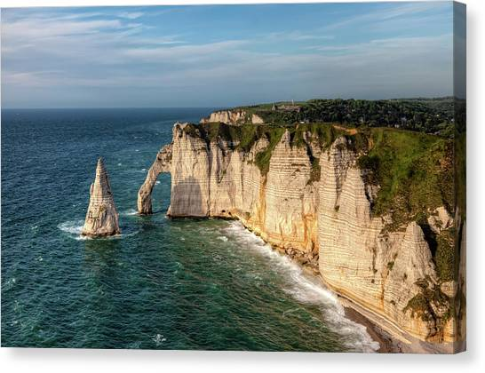 Etretat Canvas Print - Cliff needle In Etretat, France by Rogdy Espinoza Photography