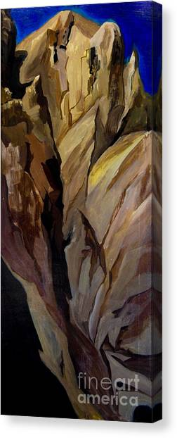 Cliff Tunnel Canvas Print