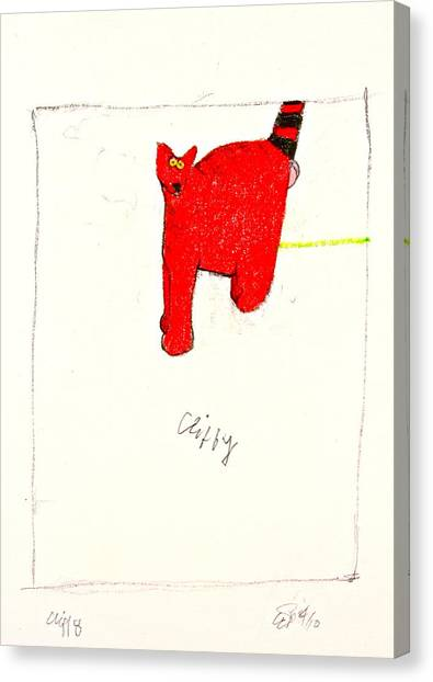 Clifford The Dog Its Not But Cliffy The Cat It Is Canvas Print by Cliff Spohn