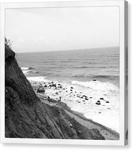 Marshes Canvas Print - Cliffs At Block Island by Cathy Marsh Photography